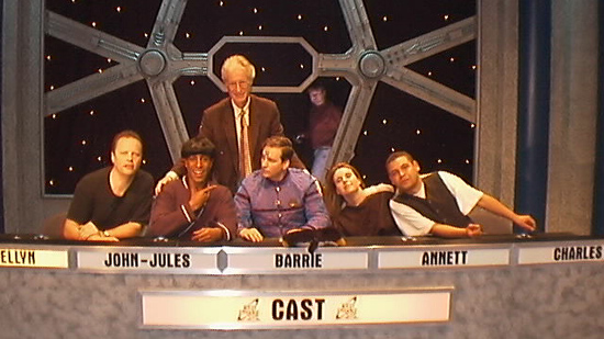 Here are the cast at the 10th aniversary quiz